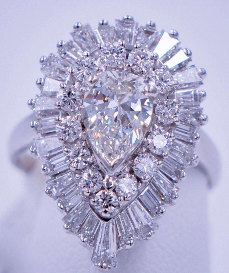 3.4 Carat Diamond Ballerina Ring Pendant