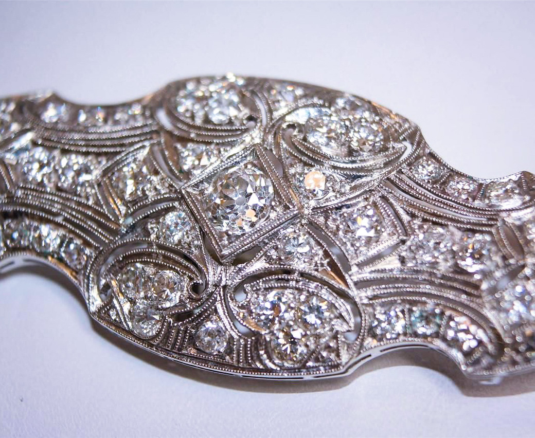 Art Deco Diamond Estate Brooch