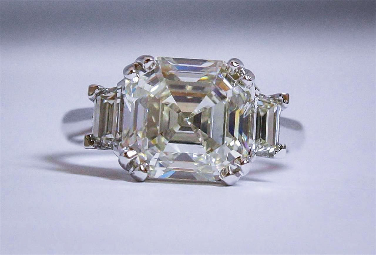 5. Asscher Cut Diamond Ring