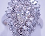 3.4 Carat Diamond Ballerina Ring Pendant