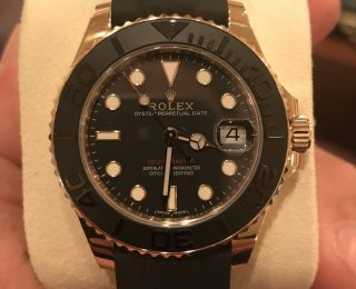 Ladies Rose Gold Rolex Yacht-Master