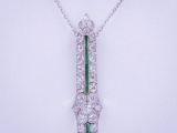 Diamond Emerald Pendant (1.9 Cts.)