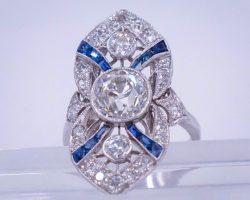 2 Carat Deco Ring
