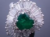 Emerald Diamond Ballerina Ring Pendant