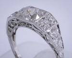 Vintage Diamond Platinum Ring