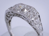 Vintage Diamond Platinum Ring