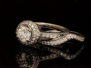 Platinum Wedding Set