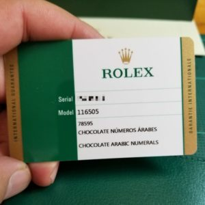Used Rolex Paperwork